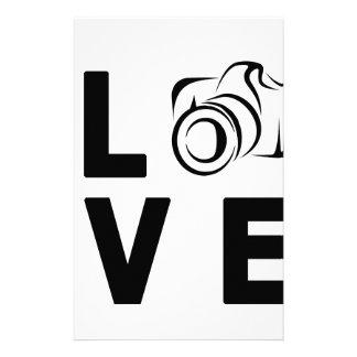 cámara y amor papelería