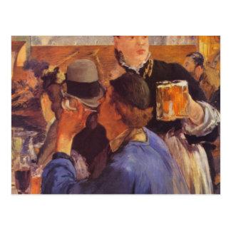 Camarera de la cerveza de Eduardo Manet Postal