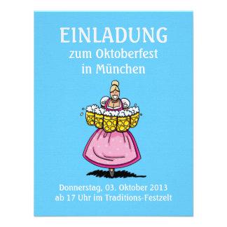Camarera de la cerveza de Oktoberfest Munich de la Invitaciones Personales