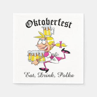 Camarera de Oktoberfest Servilletas Desechables