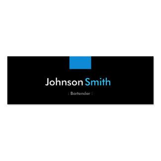 Camarero - acuerdo azul de la aguamarina tarjetas de visita mini
