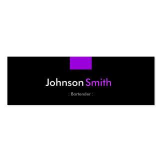 Camarero - acuerdo púrpura violeta tarjeta de visita