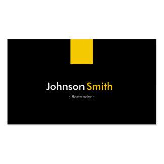 Camarero - amarillo ambarino moderno plantilla de tarjeta de negocio