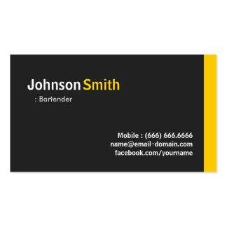 Camarero - ámbar minimalista moderno tarjeta personal
