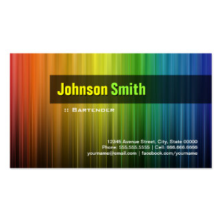 Camarero - colores elegantes del arco iris tarjetas de visita