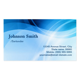 Camarero - creativo azul moderno tarjetas de visita