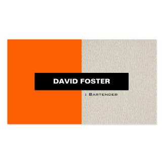 Camarero - elegante elegante simple tarjetas de visita