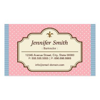 Camarero - lunares lindos plantilla de tarjeta personal