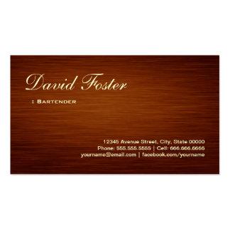 Camarero - mirada de madera del grano tarjetas de visita