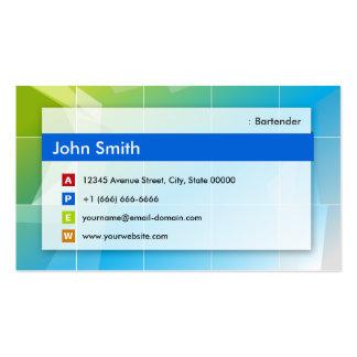 Camarero - multiusos moderno plantilla de tarjeta de visita