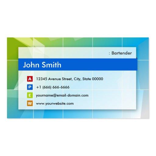 Camarero - multiusos moderno tarjeta de visita