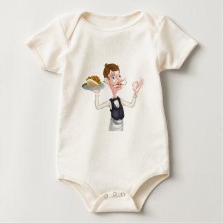 Camarero perfecto del Pita de Kebab del dibujo Body Para Bebé