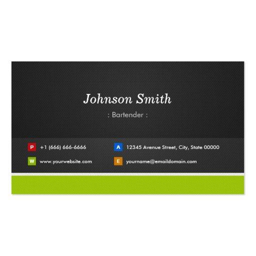 Camarero - profesional y premio plantillas de tarjeta de negocio