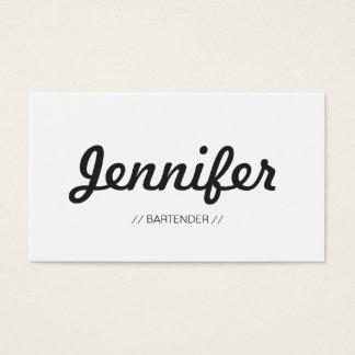 Camarero - sucinto simple elegante tarjeta de negocios