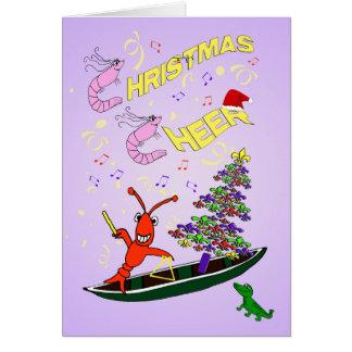 Camarón y alegría del navidad de Cajun de los Tarjeta