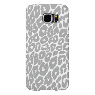 Cambiador gris del punto del estampado leopardo funda samsung galaxy s6