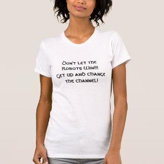 Cambie a la mujer de la camiseta del canal
