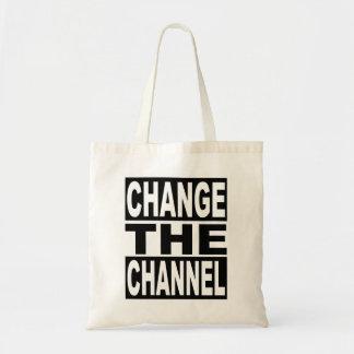 Cambie el canal bolso de tela