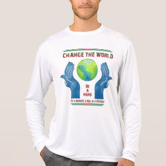 Cambie el mundo, camiseta larga de la manga