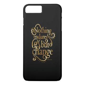 Cambie el oro de motivación de la cita en negro funda iPhone 7 plus