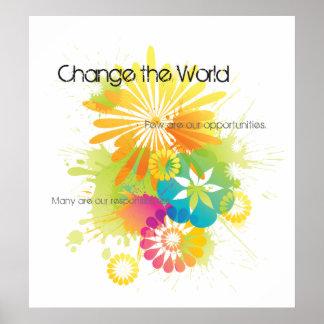 ¡Cambie el poster del mundo!