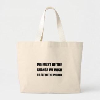 Cambie en el mundo bolso de tela gigante