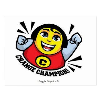 Cambie la postal del campeón