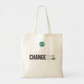 Cambie su cambio de la dieta su tote de la vida bolso de tela