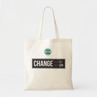 Cambie su cambio de la dieta su tote del bolso de tela