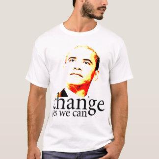 Cambio de Barack Obama podemos sí Camiseta