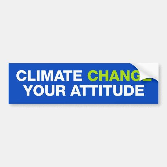 Cambio de clima su pegatina para el parachoques de