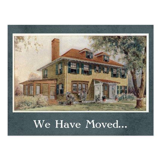 Cambio de la casa del vintage de plantilla de la postal
