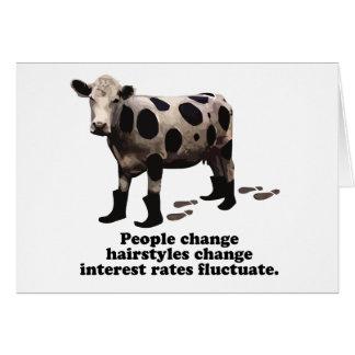 Cambio de la gente - vaca secretísima tarjeta de felicitación