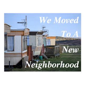 Cambio de nueva postal de la vecindad de la