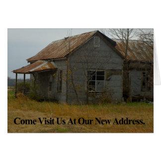 Cambio de tarjeta de la dirección: Venido