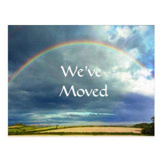 Cambio del arco iris de postal de la dirección