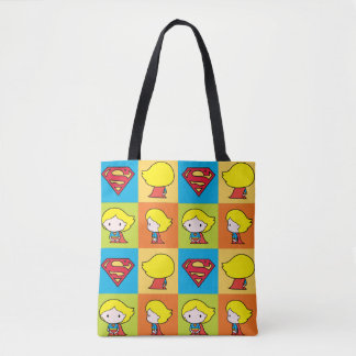 Cambio del carácter de Chibi Supergirl Bolso De Tela