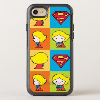 Cambio del carácter de Chibi Supergirl Funda OtterBox Symmetry Para iPhone 8/7