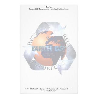 Cambio del Día de la Tierra el mundo Papeleria