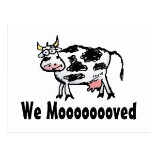 Cambio divertido de la vaca de postal de la