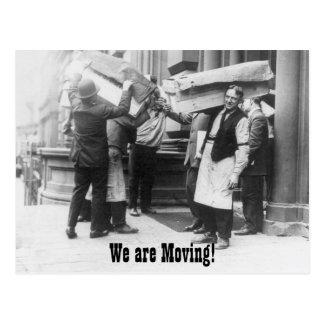 Cambio divertido del vintage de hombres móviles de postal
