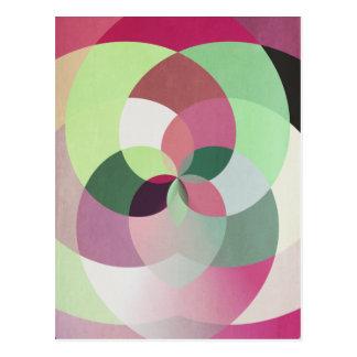 Cambio geométrico del caleidoscopio de tarjeta de postal