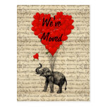 Cambio lindo del elefante de tarjeta de la direcci