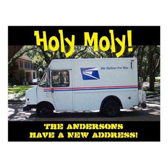 Cambio santo personalizado de Moly de postal de la