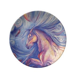 Cambios Plato De Porcelana