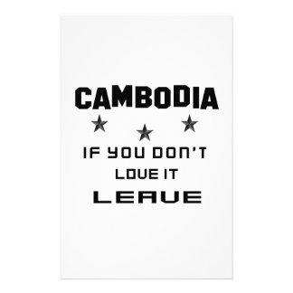 Camboya si usted no la ama, se va  papeleria de diseño