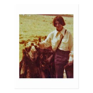 Camel y Lisa, Egipto, 1975 Postal
