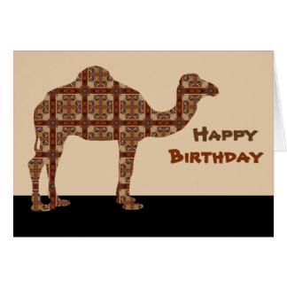 Camello del feliz cumpleaños tarjeta