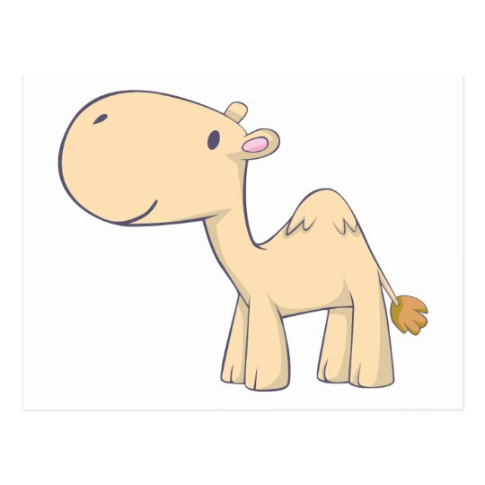 Camello feliz postal