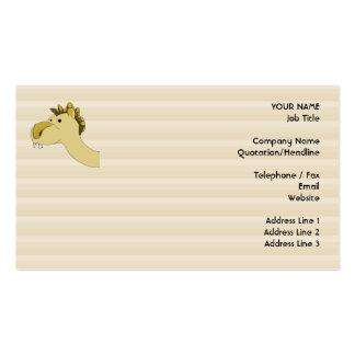 Camello lindo del dibujo animado plantilla de tarjeta de negocio